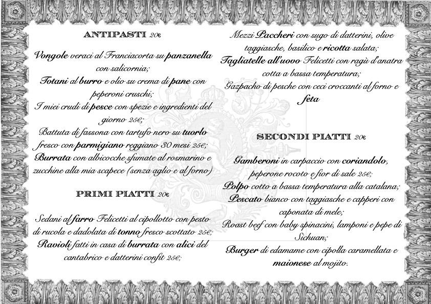 menu sito